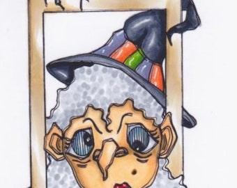 3218 Picture A Witch Digi Stamp