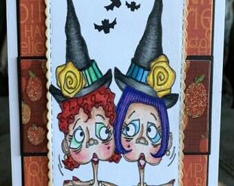 3264 Witch Friends Digi Stamp