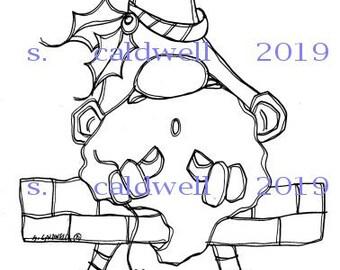 3019 Gnome Christmas Digi Stamp