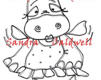 911 Fairy Hippo Digi Stamp