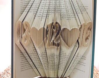 Wedding Date Folded Book Art