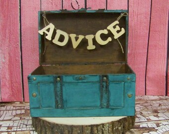 Wedding Advice Box Card Box Shabby Chic Wedding Decor Etsy
