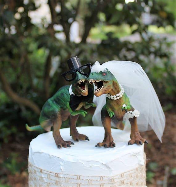 Dinosaur Wedding Cake Topper T Rex Cake Topper | Etsy