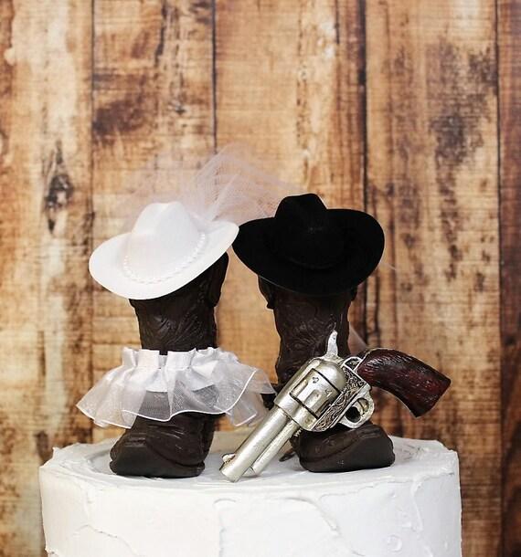 Bottes Et Pistolet De Gâteau Mariage De Chasse Fusil De