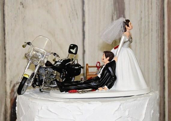 Auto Mechanic Wedding Cake Topper Grooms Motorcycle Cake  5b61a6e9833