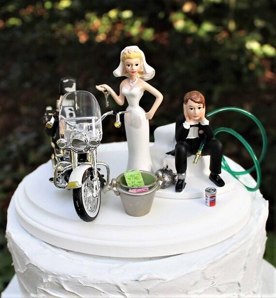 Motorrad Hochzeitstorte Topper Braut Und Brautigam Harley Etsy