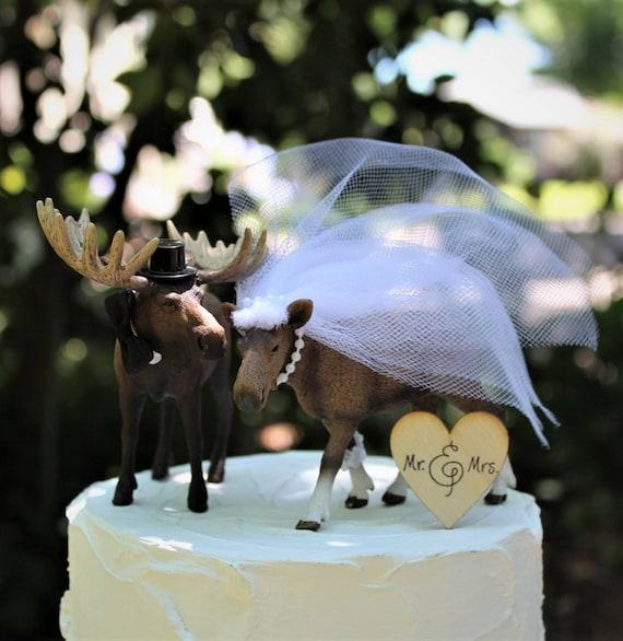 Elch Hochzeitstorte Wald Kuchendeckel Tier Kuchen Deckel Etsy