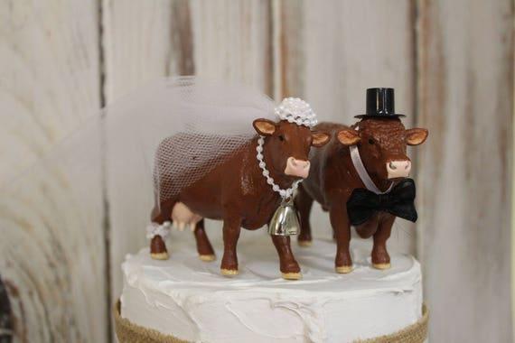Kuh Kuchen Topper Tier Hochzeitstorte Topper Bauernhof Rote Etsy