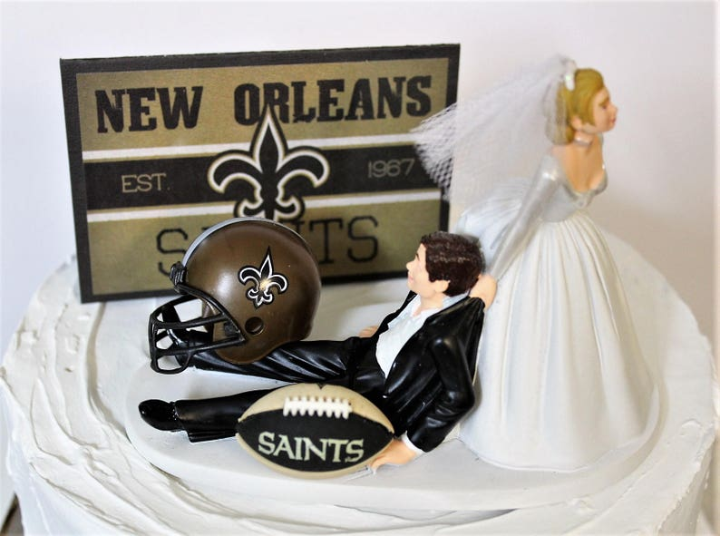 Fabulous Football Wedding Cake Topper Football Cake Topper Nfl New Etsy Personalised Birthday Cards Cominlily Jamesorg