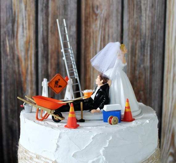 wedding cake construction construction wedding cake topper grooms cake topper 22224