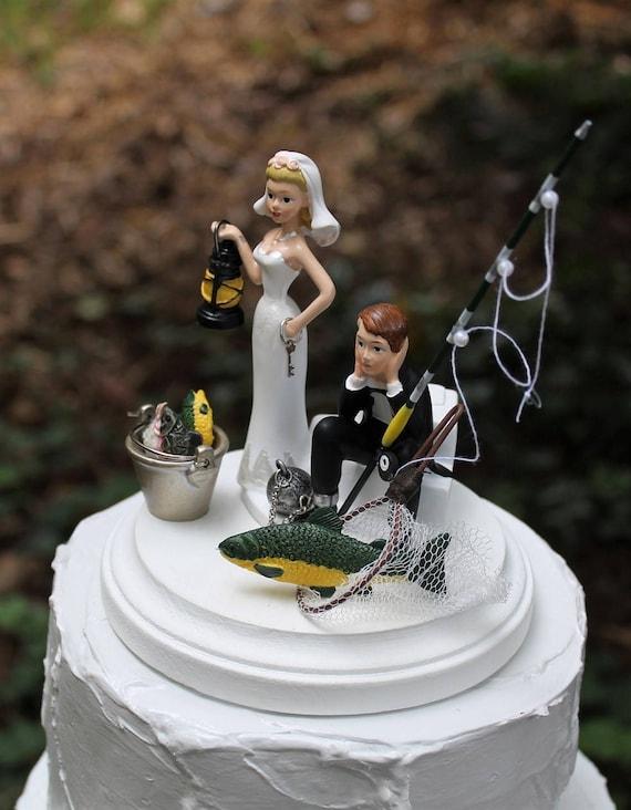 Angeln Hochzeitstorte Brautigam Jagd Kuchendeckel Freien Etsy