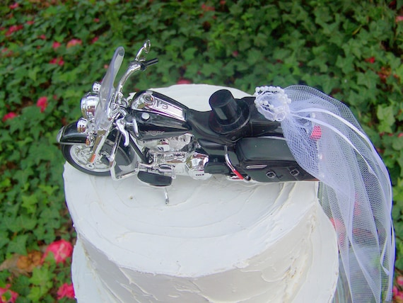 Motorcycle Cake Topper Wedding Cake Topper Harley Davidson