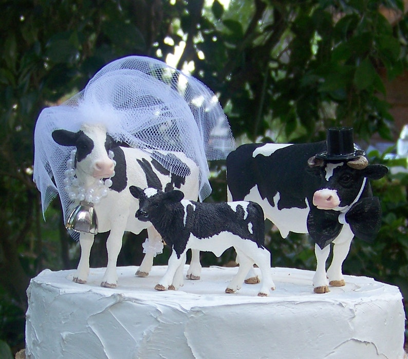 Cow Cake Topper-Farm-Holstein Cow-Barn Wedding Cake | Etsy