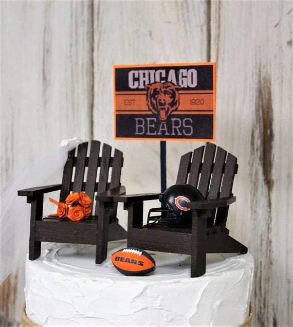 Magnificent Chicago Bears Nfl Wedding Cake Topper Football Cake Etsy Funny Birthday Cards Online Fluifree Goldxyz