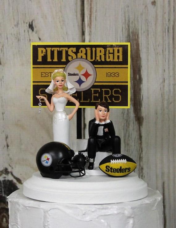 Pittsburgh Steelers NFL Wedding Cake Topper-Football Cake | Etsy