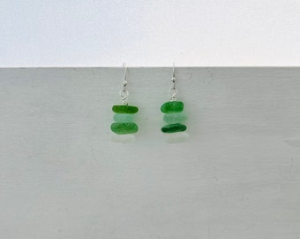 Sea Glass Stack Earrings