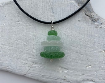 Whimsical Sea Glass stack Necklace