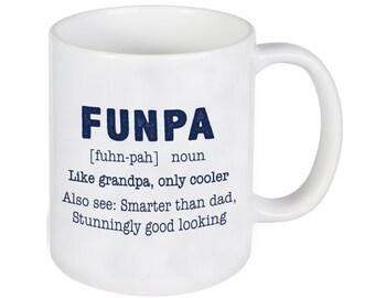 Funpa, fête des pères, Mug personnalisé, une tasse de café drôle, cadeau personnalisé, cadeau pour Papy, grands-parents jour, fêtes des pères cadeau du jour--27229-CM03-601