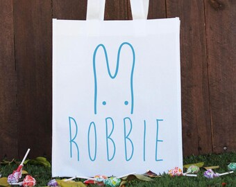 Happy Easter, Happy Easter tote bag, Easter egg hunt, easter morning gift bag, personalized easter bag, small tote for easter!