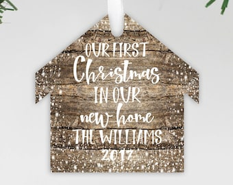 Our 1st Home, Wood Ornament, First Home, First Christmas, Realtor Gift Idea, New Home, Christmas Ornament, Custom Gift --24184-OR93-018