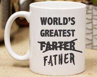 Mondes plus grande Farter, mondes plus grand père, fête des pères, tasse en céramique personnalisé cadeau personnalisé Mug, une tasse de café drôle,--27151-CM03-601