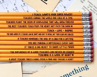 Teacher Appreciation, Pencil, Pencils for teacher, Gift for teacher, Teacher Gift, Teacher Pencil, Teacher Sayings--24030-PN12-110