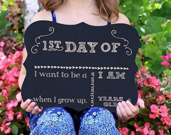 First Day of School Chalkboard sign, reusable 1st Day of School, Back to School, Reusable Sign, School Sign, OVERSTOCK SALE --27823-C001-000
