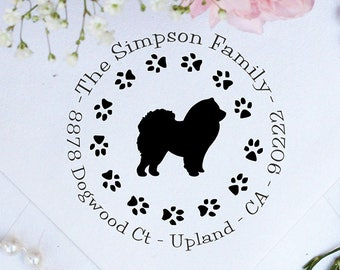 Chow Chow Dog Stamp, Chow Chow Lover Self Inking Custom Return Address Stamp, Cute Stamp for Chow Chow Lover, Dog Stamp --10346-PI53-000