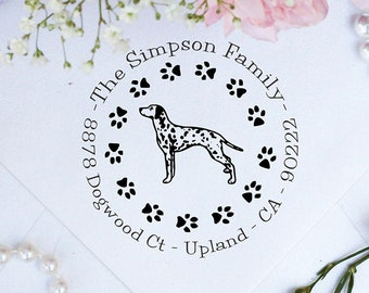 Dalmatian Dog Stamp, Dalmatian Lover Self Inking Custom Return Address Stamp, Cute Stamp for Dalmatian Lover, Dog Stamp --10347-PI53-000