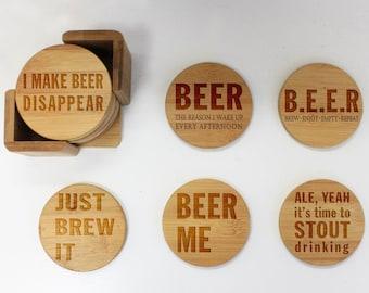 Beer coasters | Etsy