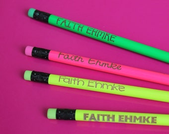 personalized pencils etsy