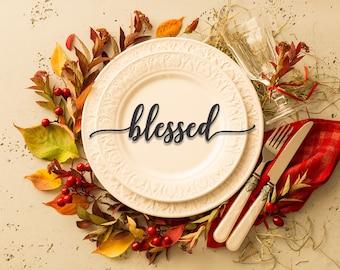 Table Word Place Setting, Autumn Decor, Thanksgiving Decor, Table Deocr, Dinning table decor, Decorations, Table Setting --15030-ACRY-055