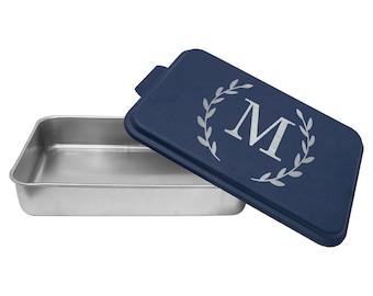 Monogram Kitchen Pan, Family Baking Pan, Engraved Gifts, Cook Ware, Custom Cake Pan, Custom Gift Idea, Gifts for Bakers,  --24705-BPN1-139