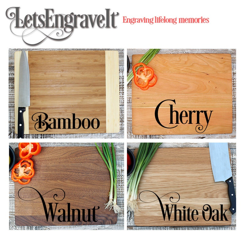 -21011-CUTB-001 Custom Engraved Bamboo Wood Personalized Cutting board Western Monogrammed cutting board