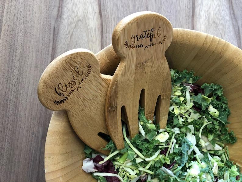 Kitchen Utensils Salad Tossers Salad Hands Personalized image 0