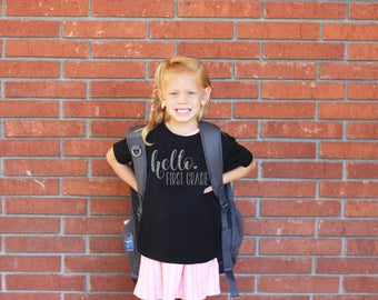 Back To School Shirt, First Day of School T Shirt, Back to School, Kindergarten, First Grade, 2nd Grade Apparel --62066-AP11-617