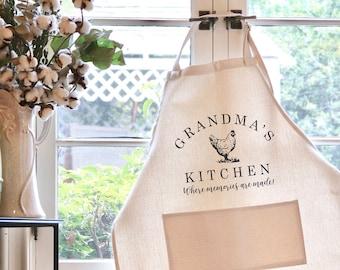 Personalized Apron, Apron, Chef's gift, Grandmas Kitchen Apron, Mother's Day gift, Personalized gift, Customized Apron --24703-AP05-628