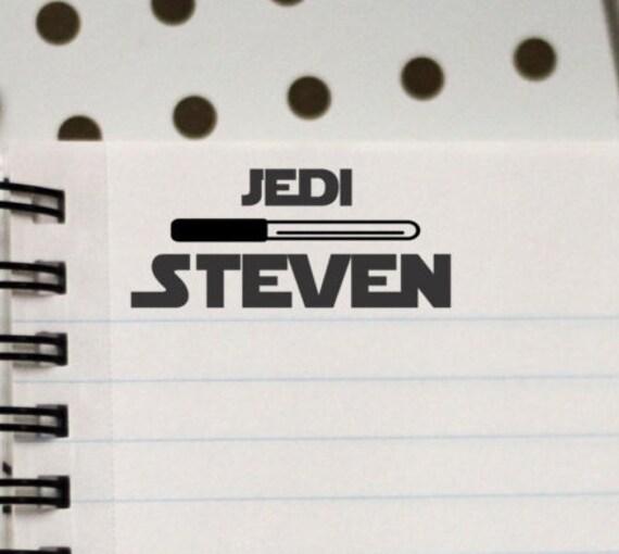Custom Kids Stamp, Personalized Kids Stamp, Custom Stamp, Kids Name Stamp, Jedi --12147-EM01-000