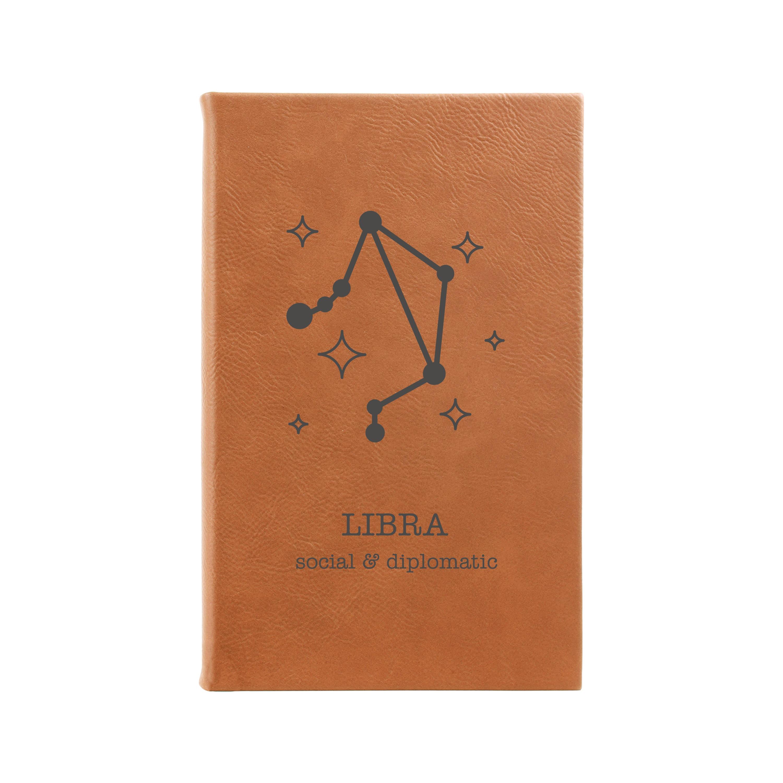Libra, Custom Journal, Leather Journal, Zodiac, Birthday Gift, Journal,  Diary, Notebook, Bullet Journal   20 LJ20 20