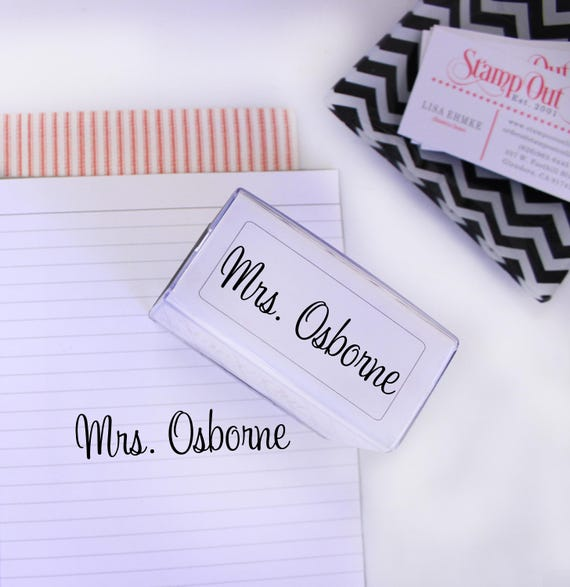 custom name stamp teacher stamp self inking personalized etsy