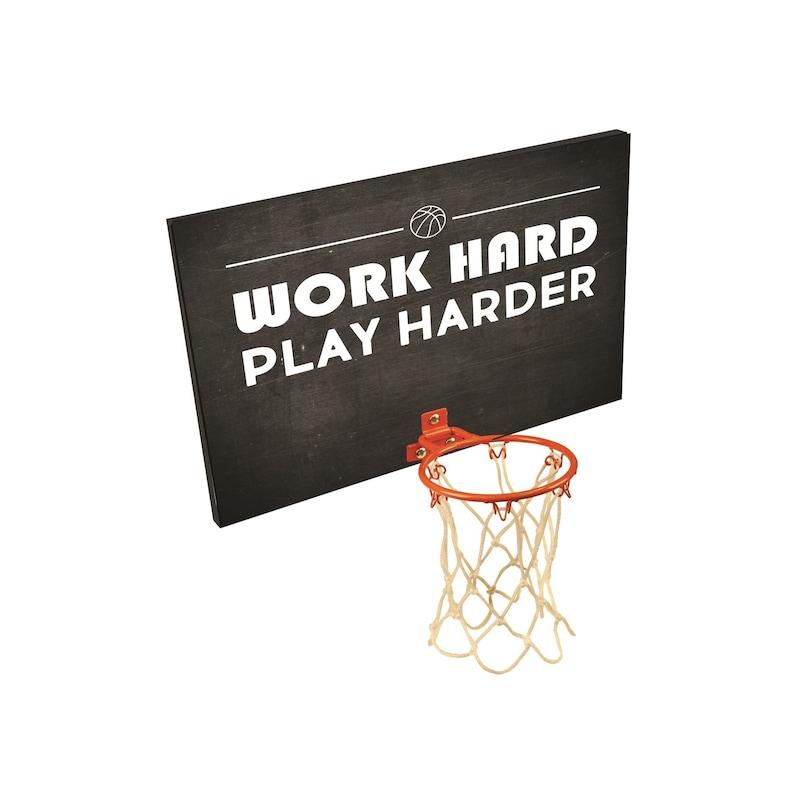 13c0ce932d8 Work Hard Play Harder Basketball Hoop Custom Backboard   Etsy