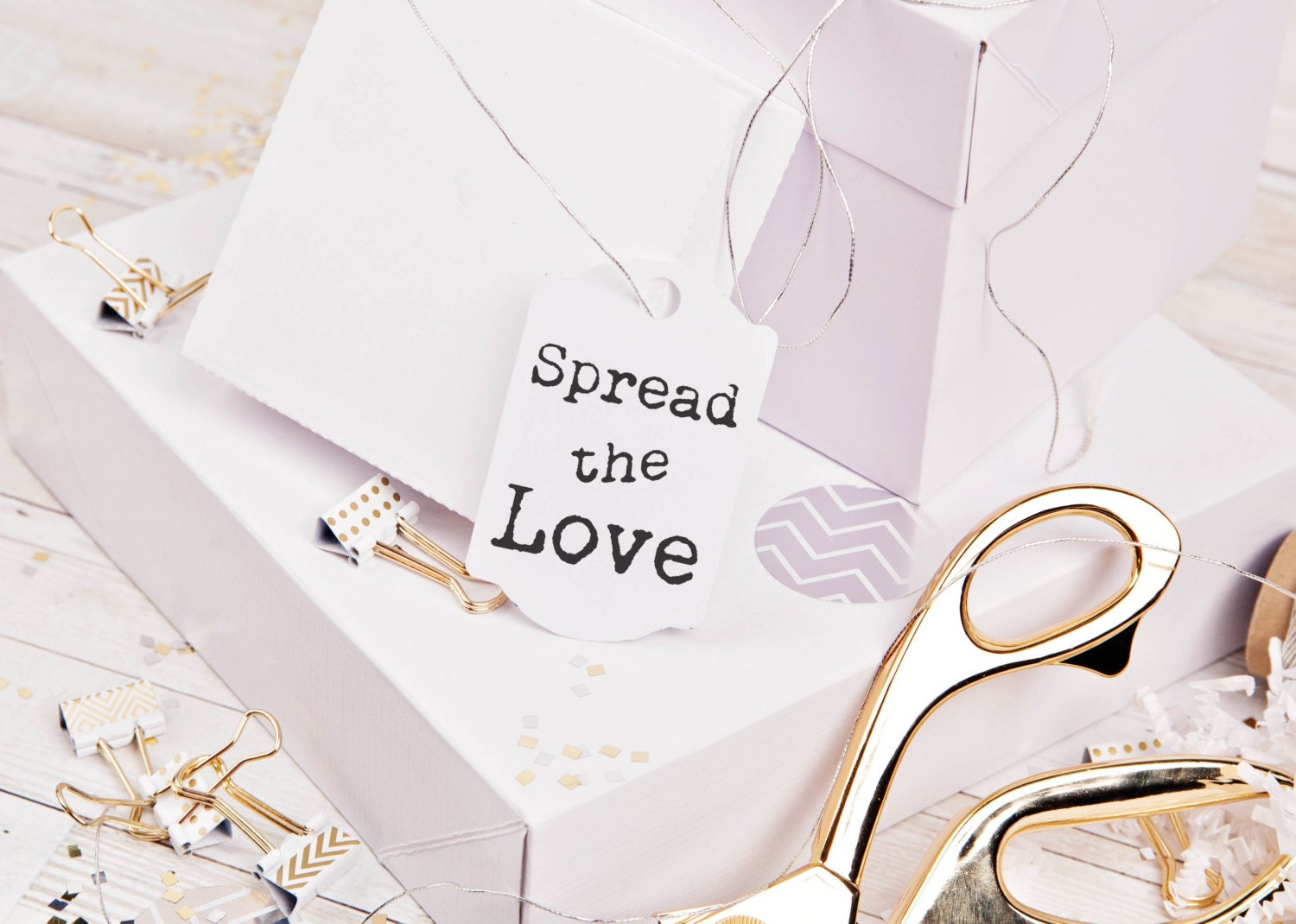Spread the love custom rubber stamp great for DIY wedding