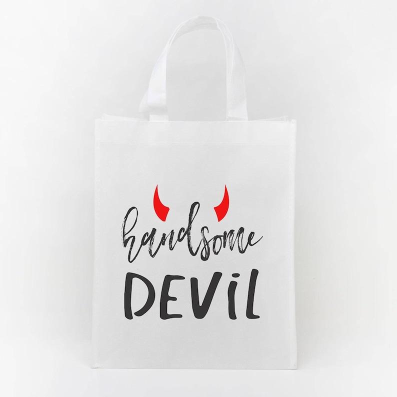 Kids Halloween bag Halloween bag Goodie bag Halloween trick or treat bag Trick or Treat tote--61034-BAG3-603 Halloween Treat bag