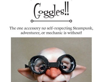 Instructional e-Book PDF How to Make Steampunk Doll Goggles