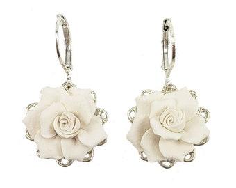 Gardenia Filigree Earrings   More Colors, Gardenia Dainty Lightweight  Earrings, Gardenia Jewelry, Gardenia Bridal Wedding Jewelry