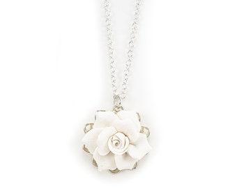 Delicieux Gardenia Charm Necklace   Gardenia Jewelry, Simple Gardenia Necklace,  Dainty Gardenia Necklace, Gardenia Wedding Jewelry
