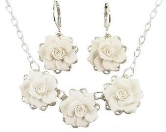 Gardenia Jewelry Set   Trio Gardenia Jewelry, Gardenia Wedding Jewelry