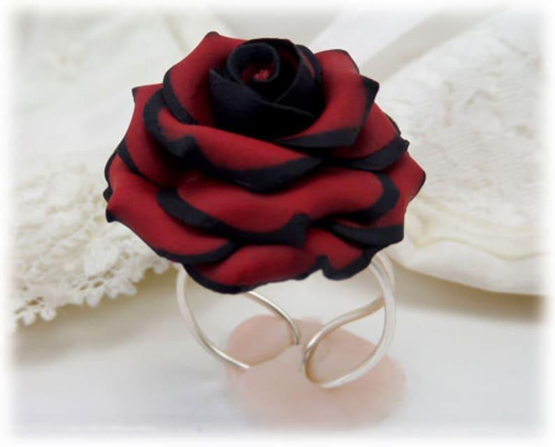 51df4a15bf3 Bague Rose Rose bijoux bague de Rose gothique gothique à