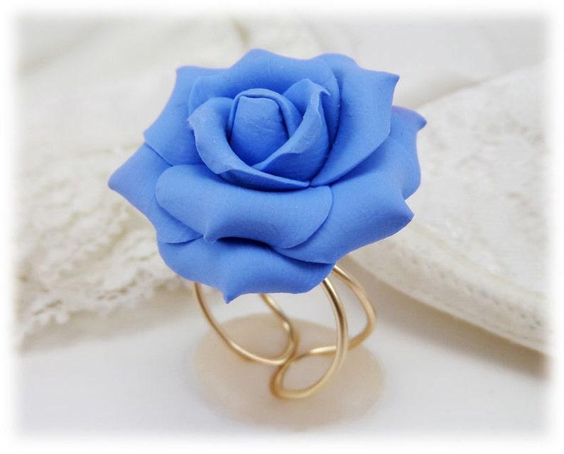 Large Black Rose Ring Adjustable Sterling Silver Black Rose Ring Black Rose Jewelry 14k Gold Filled Black Rose Ring Black Flower Ring