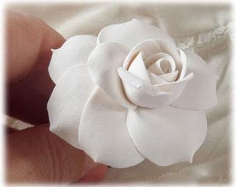 Gardenia Hair Clip Pin - Gardenia Hair Flower, Gardenia WEdding Hair Accessories